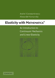 Elasticity with Mathematica ®
