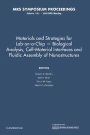 Materials and Strategies for Lab-on-a-Chip — Biological Analysis, Cell-Material Interfaces and Fluidic Assembly of Nanostructures