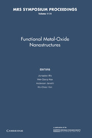 Functional Metal-Oxide Nanostructures