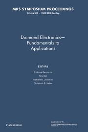 Diamond Electronics — Fundamentals to Applications