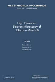 High Resolution Electron Microscopy of Defects in Materials