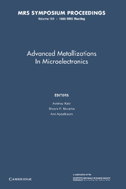 Advanced Metallizations in Microelectronics