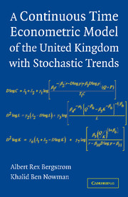 A Continuous Time Econometric Model of the United Kingdom with Stochastic Trends