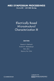 Electrically Based Microstructural Characterization III