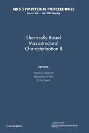 Electrically Based Microstructural Characterization II
