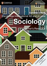 Cambridge International AS and A Level Sociology Teacher's Resource CD-ROM