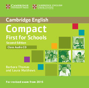Compact First for Schools Class Audio CD