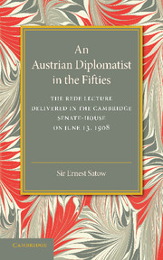 An Austrian Diplomatist in the Fifties