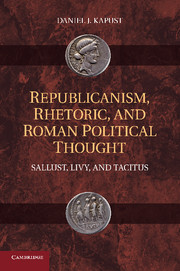 Republicanism, Rhetoric, and Roman Political Thought