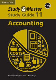 Study & Master Accounting Study Guide Grade 11