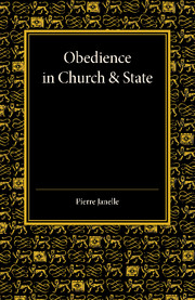 Obedience in Church and State