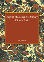A Report of a Magnetic Survey of South Africa