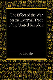 The Effect of the War on the External Trade of the United Kingdom