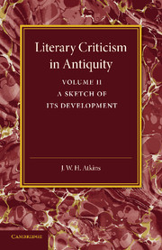 Literary Criticism in Antiquity