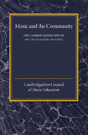 The Cambridgeshire Report on the Teaching of Music