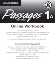 Passages Level 1 Online Workbook A Activation Code Card