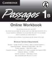 Passages Level 1 Online Workbook B Activation Code Card
