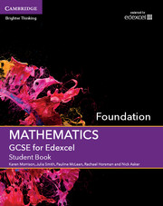 GCSE Mathematics for Edexcel Foundation Student Book