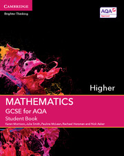GCSE Mathematics for AQA Higher Student Book