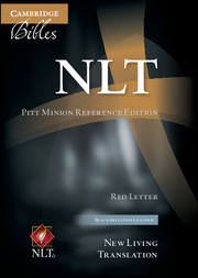 NLT Pitt Minion Reference Bible, Red Letter, Black Imitation Leather NL442:XR