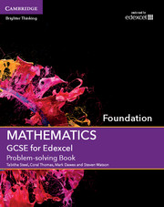 GCSE Mathematics for Edexcel Foundation Problem-solving Book