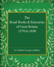 The Road-Books and Itineraries of Great Britain 1570 to 1850