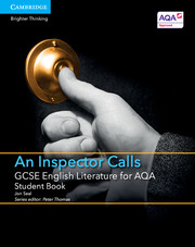 for AQA An Inspector Calls Student Book with Cambridge Elevate enhanced edition (2 Years)