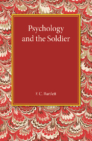 Psychology and the Soldier