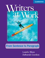 Writers at Work From Sentence to Paragraph
