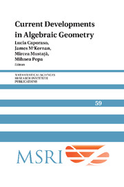 Current Developments in Algebraic Geometry
