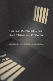 Criminal Disenfranchisement in an International Perspective