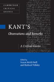 Kant's <I>Observations</I> and <I>Remarks</I>