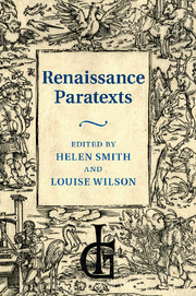 Renaissance Paratexts