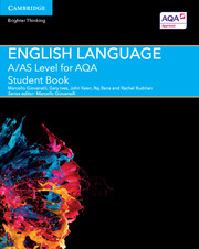 A/AS Level English Language for AQA Student Book with Cambridge Elevate Enhanced Edition (2 Years)