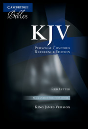 KJV Personal Concord Reference Bible, red letter, black and green two-tone imitation leather KJ462:XR