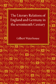 The Literary Relations of England and Germany