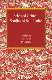 Selected Critical Studies of Baudelaire