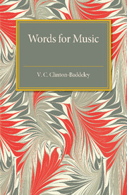 Words for Music