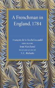 A Frenchman in England 1784