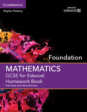 for Edexcel Homework Book