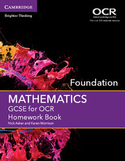 GCSE Mathematics for OCR Foundation Homework Book