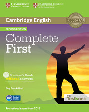 Complete First Student's Book without Answers with CD-ROM with Testbank