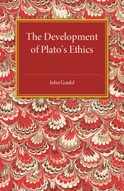 The Development of Plato's Ethics