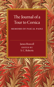 The Journal of a Tour to Corsica
