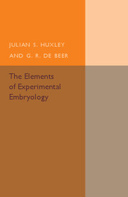 The Elements of Experimental Embryology