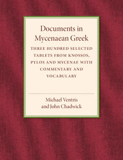 Documents in Mycenaean Greek