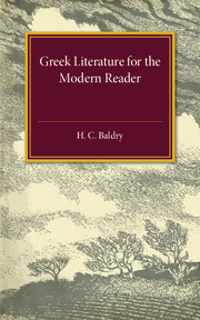 Greek Literature for the Modern Reader