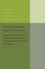 The Experimental Basis of Chemistry
