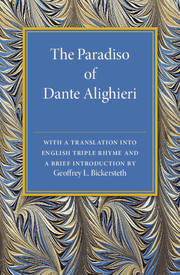 The Paradiso of Dante Alighieri