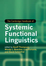 The Cambridge Handbook of Systemic Functional Linguistics